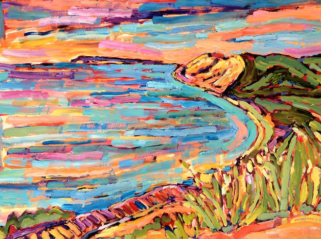 Empire Bluffs painting from Brenda J. Clark Gallery